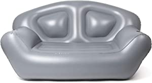 Milliard Inflatable Couch/Air Sofa – Perfect Lounger for Camping, Beach and Home (Grey)