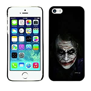 Exotic-Star ( Movie Character Bat Joke Black ) Fundas Cover Cubre Hard Case Cover para Apple iPhone 5 / iPhone 5S