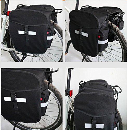 MASLEID Bike Panniers Taschen (Paar), Große Kapazit? T, Schwarz