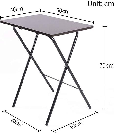 Tavolo Pieghevole Installazione Gratuita Semplice Scrivania Tavolo for Laptop Tavolo da Pranzo for La Casa Tavolino Stoccaggio Portatile Tavolo da Picnic Allaperto Color : Wood