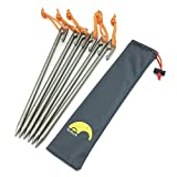 Tentock Outdoor Titanium Ultralight Tent Building Awning Pegs Camping Stakes 4pcs/6pcs with Storage Case