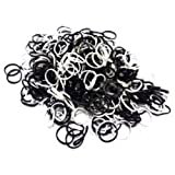 5000 pc Rubber Band Refill Mega Value Pack with Clips - 100% Compatible with all Looms Black / White