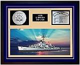 Navy Emporium USS O BRIEN DD 725 Framed Navy Ship Display Blue