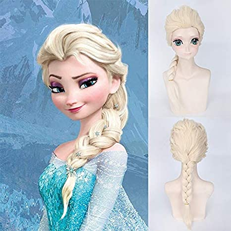 Blue Bird The Movie Frozen Elsa Cosplay pelucas larga rubia trenza ...