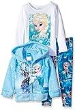 Disney Little Girls' Frozen Elsa 3-Piece Hoodie, Multi, 5