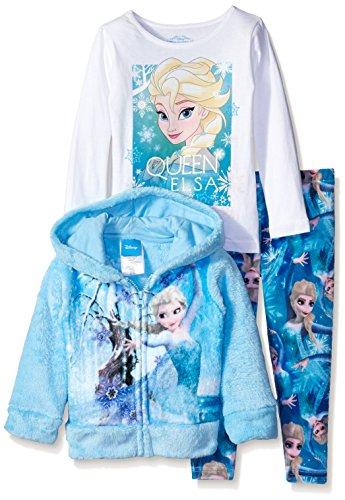 Disney Little Girls' Frozen Elsa 3-Piece Hoodie, Multi, 2T