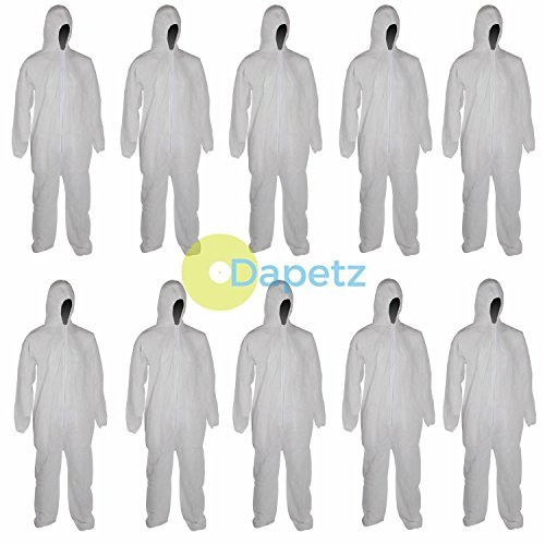 Dapetz ® Disposable Overall Paper Suit Protective Overall Coveralls XXL 146cm 58' - Pack of 10
