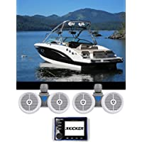 KICKER KMC20 Marine Bluetooth Receiver 4 Boat/ATV/UTV+(2) Dual 6.5 Wakeboards