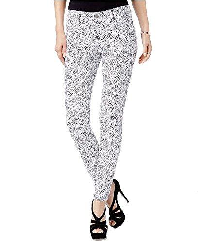 (Michael Michael Kors Petite Star-Print Skinny Jeans (Whiteblack, 14P))