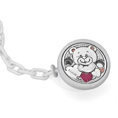 Pinza de chupete de la marca pedro duran oso amoroso en rosa ...