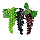 LingStar Realistic Artificial Grape for Home House Kitchen Decoration,A Bunch of 85PCS,Black