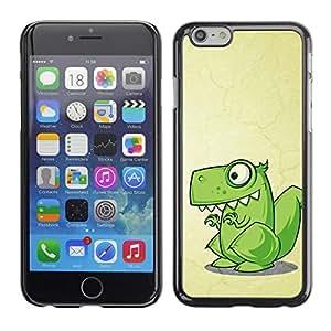 Design for Girls Plastic Cover Case FOR Apple Iphone 6 Plus 5.5 Cute Funny T-Rex Dinosaur OBBA