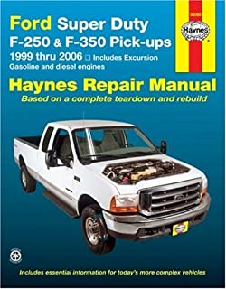 amazon com chilton super duty pick ups excursion 1999 2010 repair rh amazon com 2013 Ford F350 Owner's Manual 2013 Ford Taurus Owners Manual