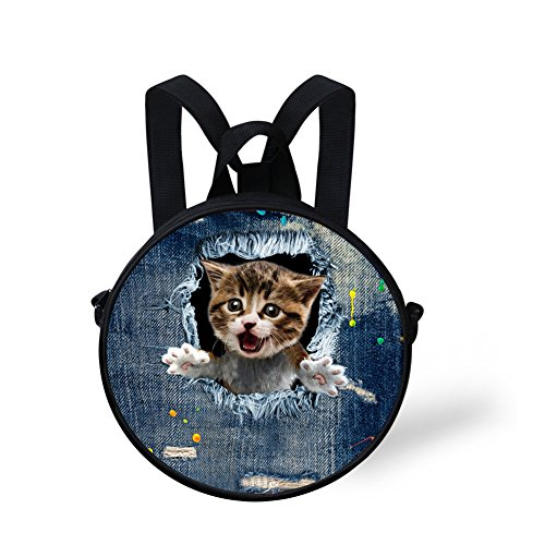 Bag FashionPaint Stylish Print Women Shoulder Round for and Women Casual W8cca4915i Girls Bag TgtZgwqxr