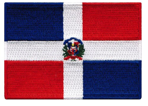 Dominican Republic Flag Embroidered Patch Caribbean Iron-On