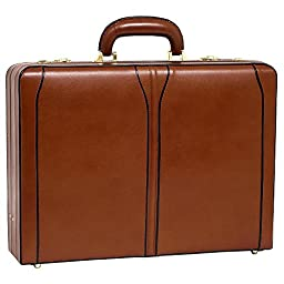 McKleinUSA TURNER 80484 Brown Leather Expandable Attache Case