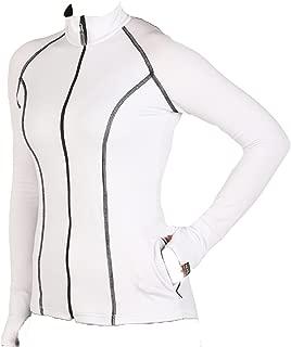 product image for WSI Sports Women's Heatr Princess Cut Full Zip, White, X-Small