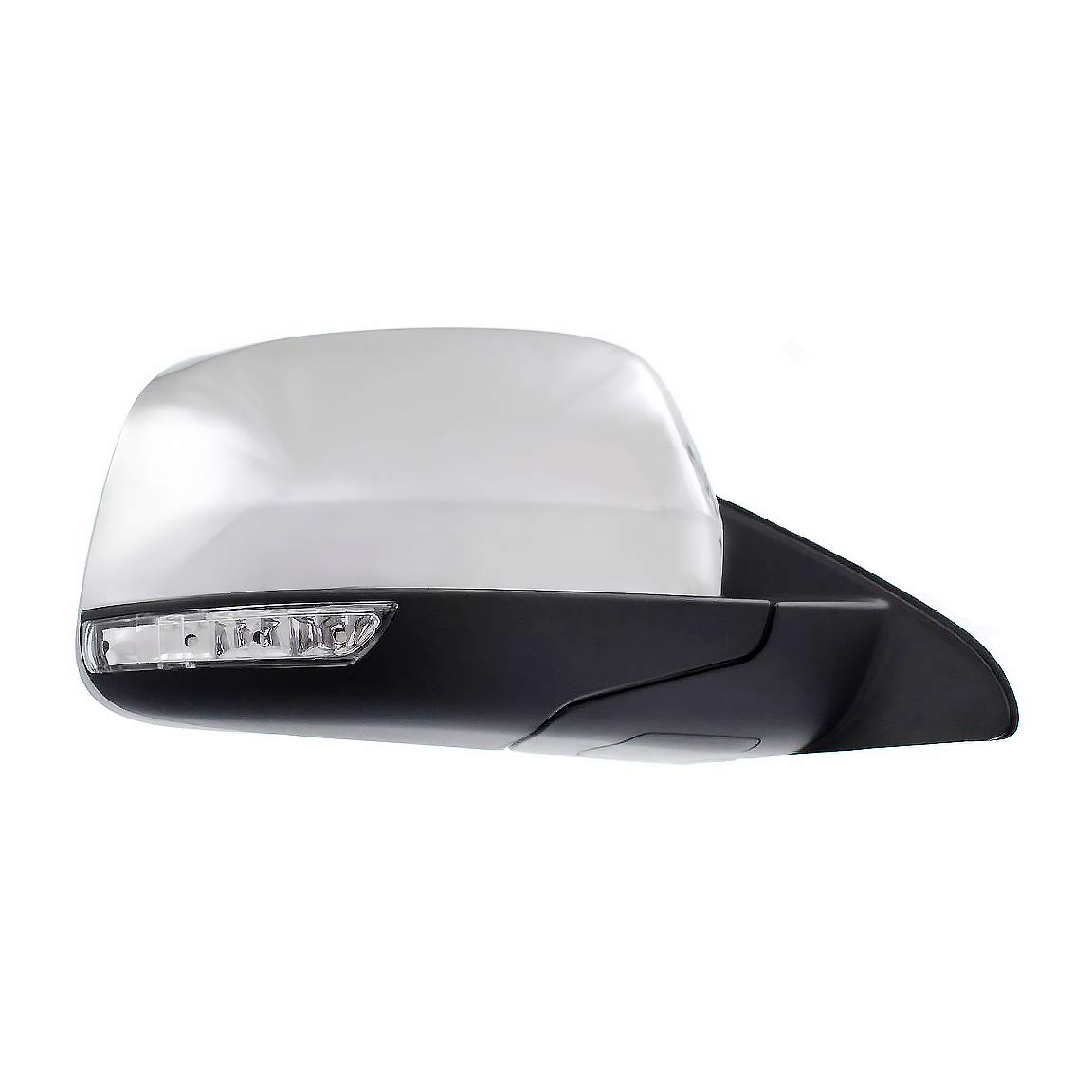 Passenger Side Chrome Heated Power Operated With Signal Side Light View Mirror for 2011-2016 Jeep Grand Cherokee - Parts Link #: CH1321358