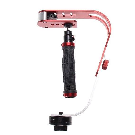 BEESCLOVER Pro Camera Stabilizer Handheld Steadicam for Camcorder DSLR Gimbal red