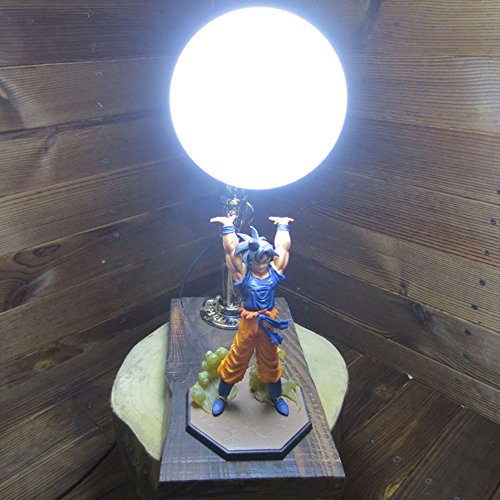 Dragon Ball Son Goku Genki Dama Spirit Bomb LED Table Lamp by Aurookeb