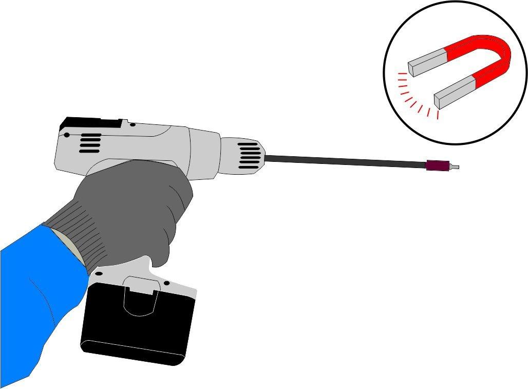 sgancio rapido CON:P B23062 Prolunga Porta Inserti Magnetica 0 V 0 W 150 mm