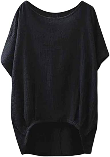 Awear Womens Bat Short Sleeve Casual Loose Round Neck Top Thin Section Blouse T-Shirt