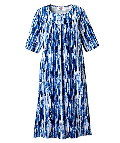 (Silvert's Adaptive Open Back Dress - Caregiver Assisted Dressing - Blue Water XL)