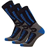 thermal ski socks kids - Pure Athlete Youth Ski Socks - Merino Wool Children Skiing/Snowboard Sock - Junior OTC Ski Socks
