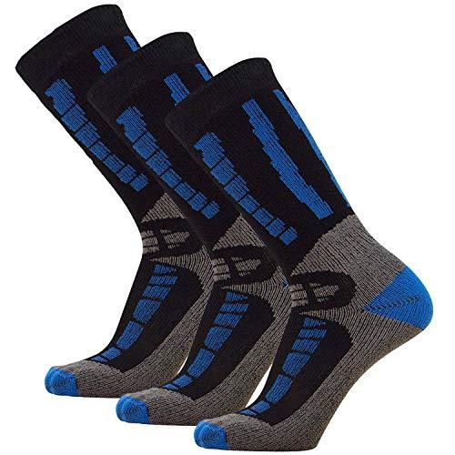 Pure Athlete Youth Ski Socks - Merino Wool Children Skiing/Snowboard Sock - Junior OTC Ski ()