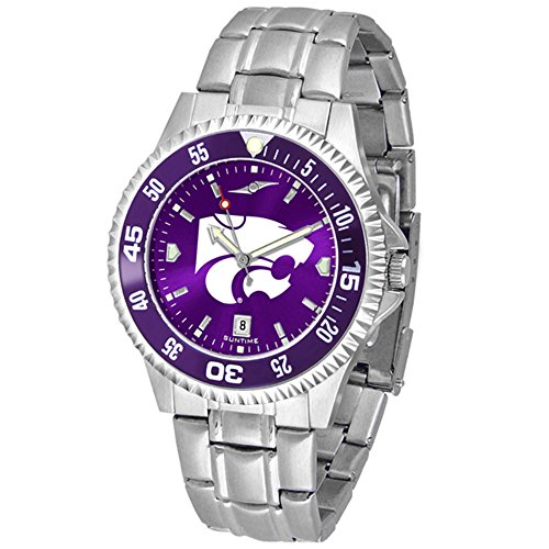 Wildcats Competitor Watch (Kansas State Wildcats Competitor Steel AnoChrome Color Bezel Men's Watch)