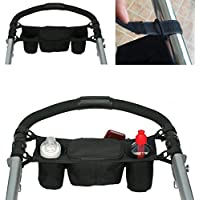 Chinatera Baby Stroller Organizer Bag Baby Pushchair Cup Milk Box Bottle Cup Holder Black