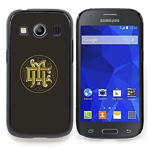 "For Samsung Galaxy Ace Style LTE/ G357 Case , Iniciales Caligrafía Medieval Oro Gris Logo"" - Diseño Patrón Teléfono Caso Cubierta Case Bumper Duro Protección Case Cover Funda"