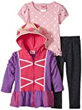 Nannette Little Girls' 3 Piece Knit Jacket Set with Pant and Pullover