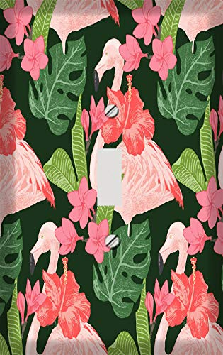 Flamingos and Flowers Switchplate - Switch Plate Cover