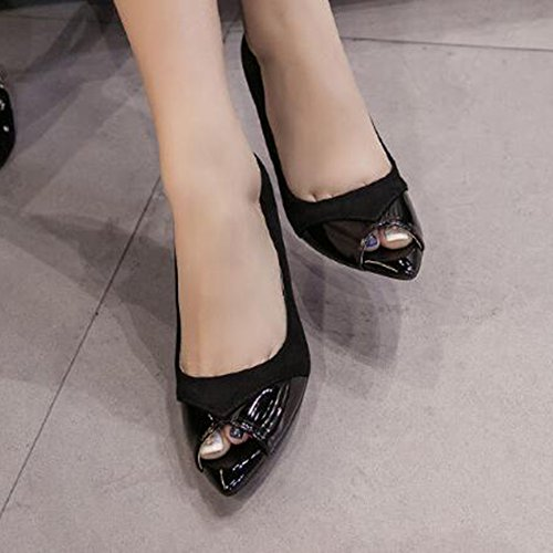 Scarpe Da Donna Eleganti Ecopelle Easemax In Ecopelle Eleganti Scamosciata Con Tacco A   e1cd86