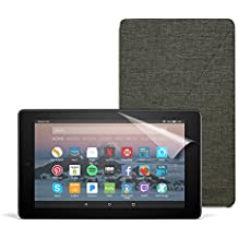 All-New Fire 7 Essentials Bundle with Fire 7 Tablet (8 GB, Black), Amazon Cover (Charcoal Black) and Screen Protector (Clear)