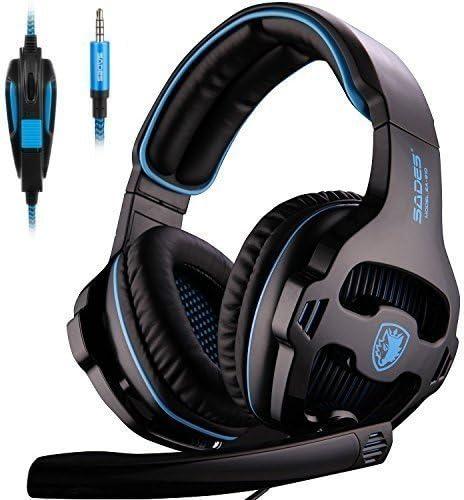 [Neu überarbeitete Version] SADES 810S Stereo Gaming Headset Kopfhörer mit volumenausgleich mic für New Xbox One, PS4, PS4 PRO, PC, Laptop, Mac, Phone - Schwarz