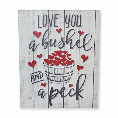 MRC Wood Products I Love You A Bushel and A Peck Rustic Wall Sign 12x15