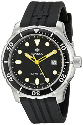 Swiza Men's WAT.0461.1004 Tetis Analog Display Swiss Quartz Black Watch