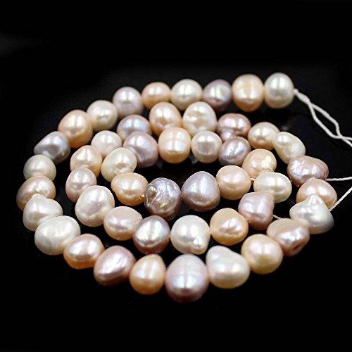 "SR BGSJ Jewelry Making Natural 7-9mm Freeform Baroque Potato Shape Freshwater Pearl Spacer Beads Strand 15"""