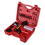 Vacuum Pump Kit,Hand Held Brake Bleeder Tester Set Bleed Kit Vacuum Pump Car Motorbike Bleeding Tools