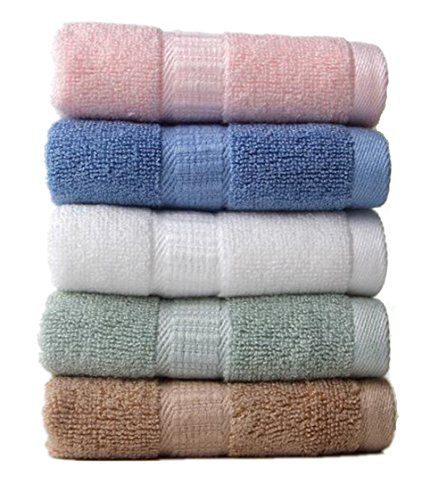 zw99 Store Bamboo Washcloths (5-pack,13x13 Inches) Soft washcloths for face,Towels, Organic, hypoallergenic, absorbent and durable bamboo