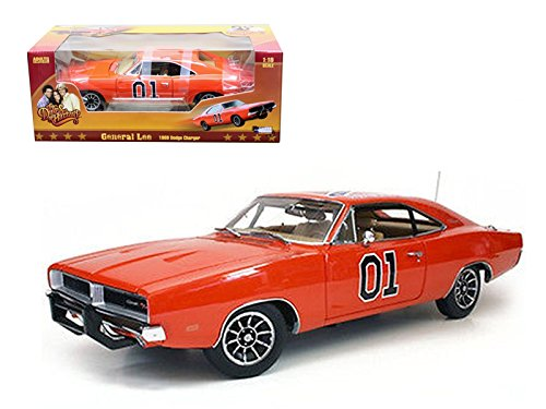 Autoworld 1969 Dodge Charger Dukes Hazzard General Lee 1/18 Diecast Car Model
