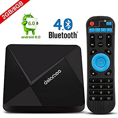Android Box, DOLAMEE D5 4K Full HD Mini TV Box 2GB RAM 8GB ROM Media Player Support 2.4G WIFI And Bluetooth 4.0