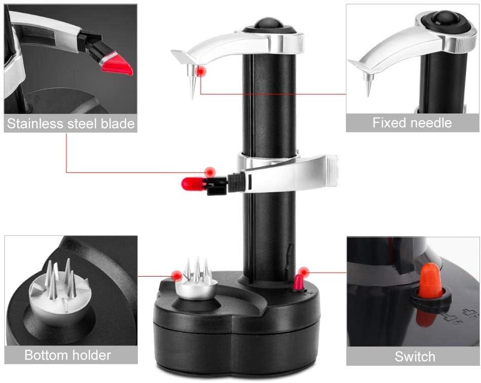 Rotato Express herramienta de cocina dom/éstica multifunci/ón para frutas y verduras m/áquina de pelar patatas Pelador el/éctrico Josopa