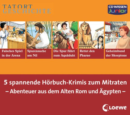 CD WISSEN Junior - TATORT GESCHICHTE - Sammel-Box - Abenteuer aus dem Alten Rom und Ägypten, 10 CDs