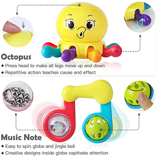 iPlay-iLearn-10pcs-Baby-Rattles-Teether-Shaker-Grab-and-Spin-Rattle-Musical-Toy-Unique-Gift-Set-Early-Educational-Toys-for-3-6-9-12-Month-Baby-Infant-Newborn