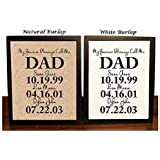 Personalized Gift for Dad, My Greatest Blessings Call Me Dad, Gift For Dad, Father's Day Gift, Custom Burlap Print