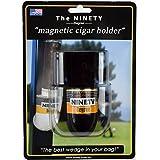 Ninety Degree Wedge - Soporte magnético para Puros (Fabricado en Estados Unidos), Color Blanco y Negro