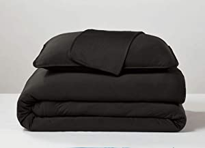 SHEEX - Original Performance Cooling Duvet Cover, Light-Weight, Ultra Soft, Breathable Fabric Releases Body Heat for Superior Comfort - Black, Full/Queen